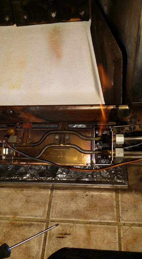 servicing a gas fireplace